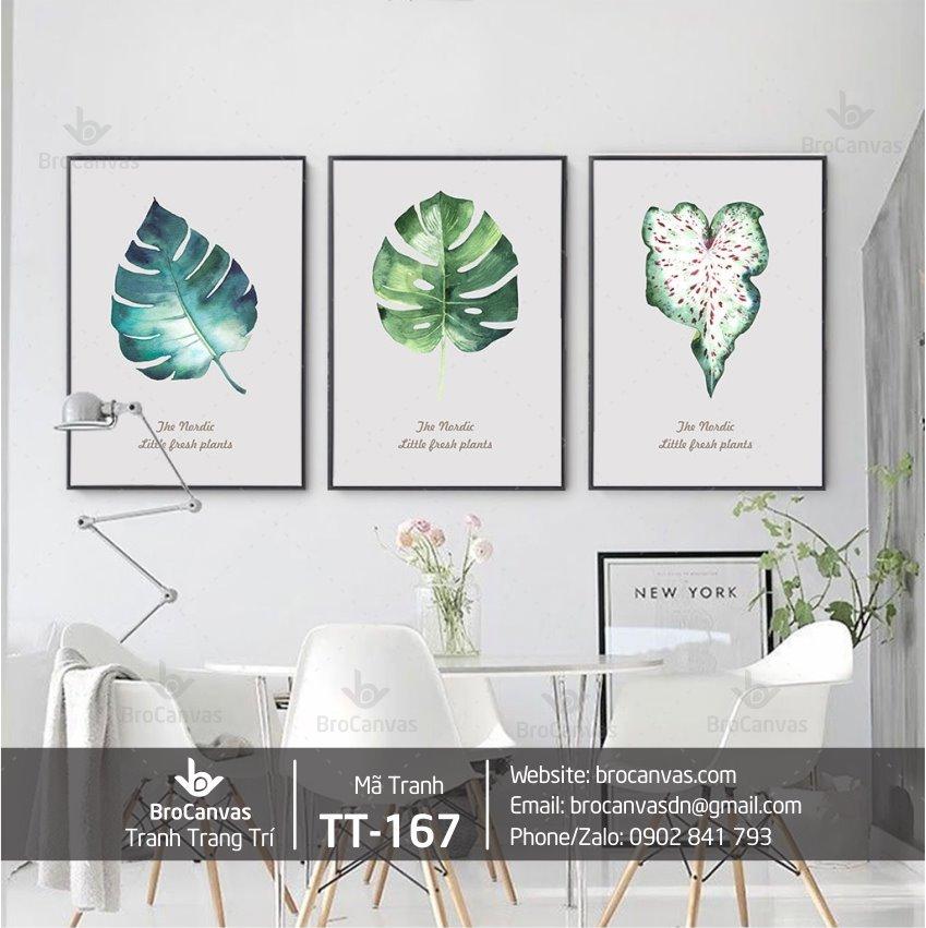Bộ tranh trang trí lá cây nhiệt đới