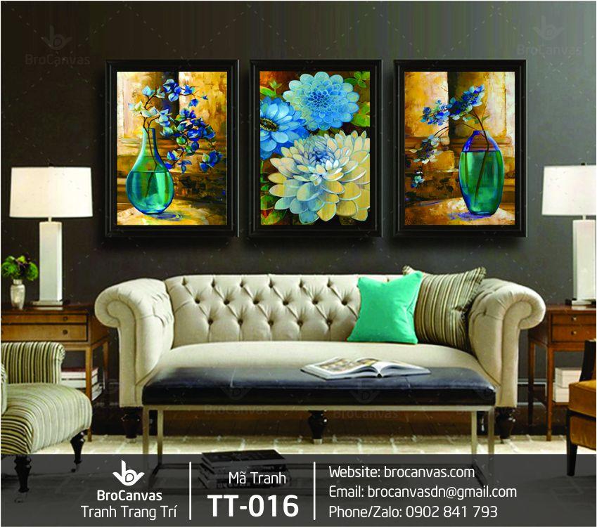 Tranh Trang Trí Bộ 3 Lọ Hoa Thủy Tinh TT-016 | Brocanvas.com