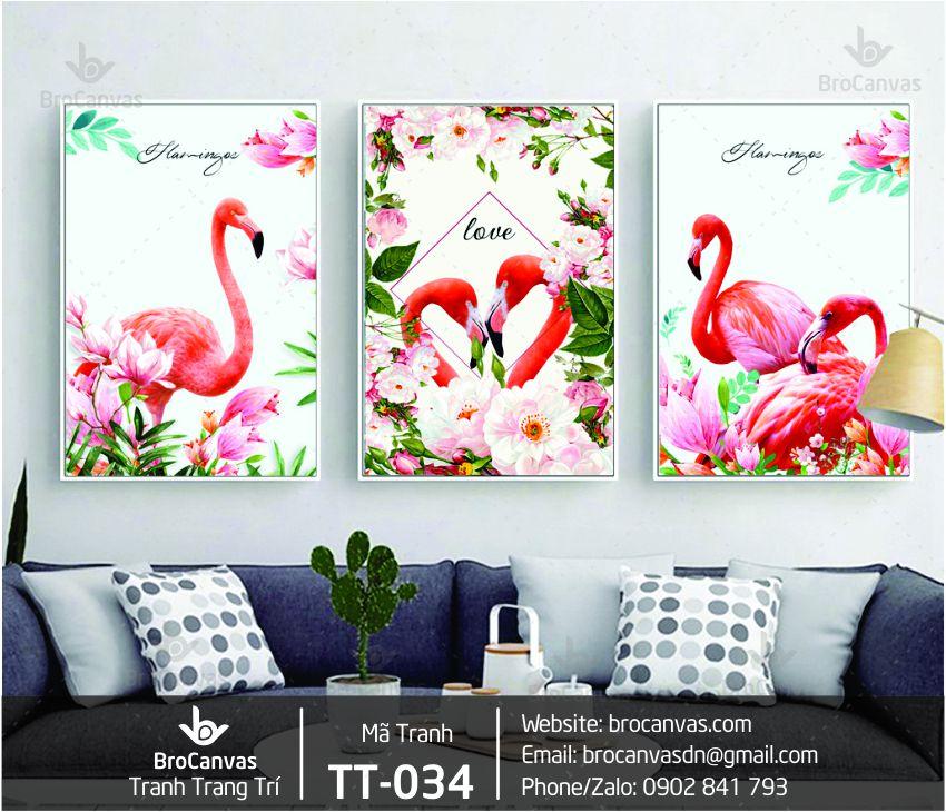 Tranh Trang Trí Bộ 3 Chim Hạt Đỏ TT-034 | Brocanvas.com