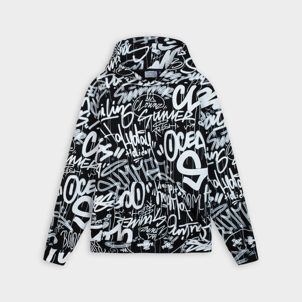 Graffiti Over Print Hoodie