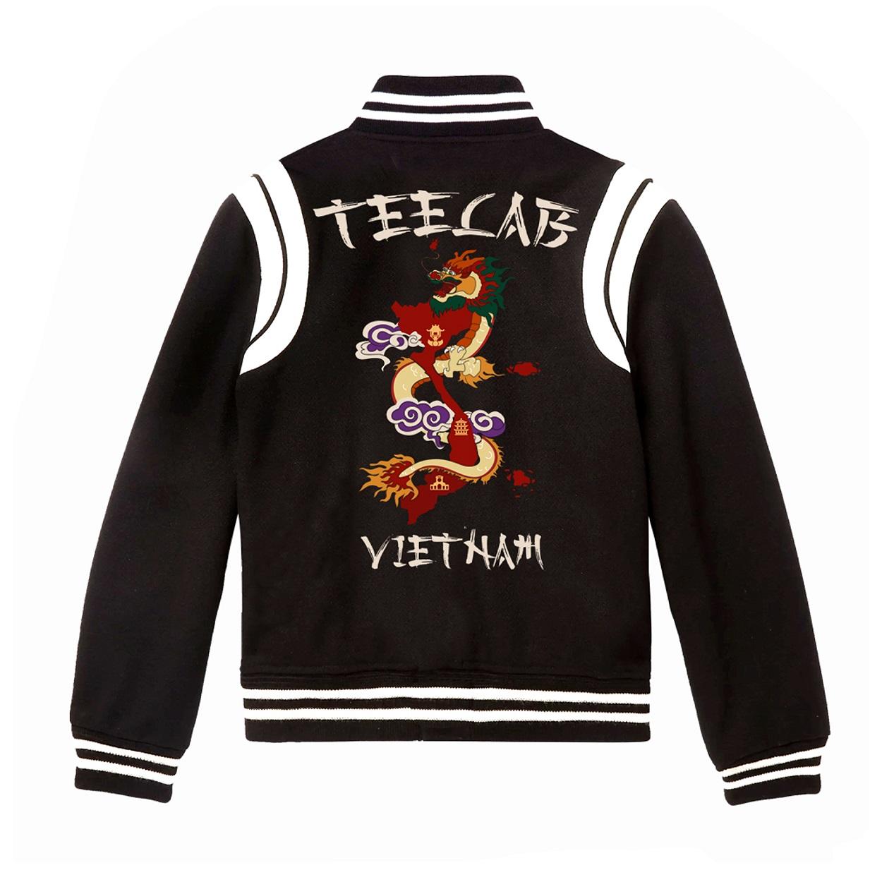 Áo Khoác Teelab Varsity Jacket Dragon AK013
