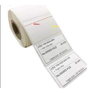 Giấy in mã vạch/ Decal in mã vạch 1 tem cảm nhiệt 58 x 40 mm x 30m