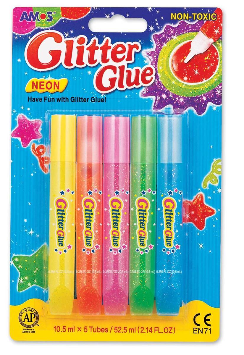 Vỉ 5 Bút Nhũ Amos Glitter Neon 10.5Ml Gne10B5
