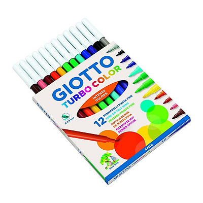 Bút Dạ Giotto Turbo Maxi 12 Màu Thân To 454000