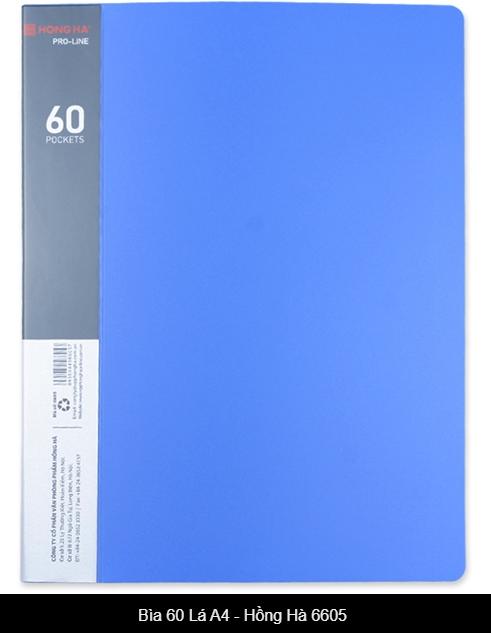 Bìa 60 lá A4 Hồng Hà 6605