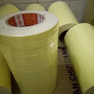 Băng keo xốp vàng 2cm 4.5m BKXV2