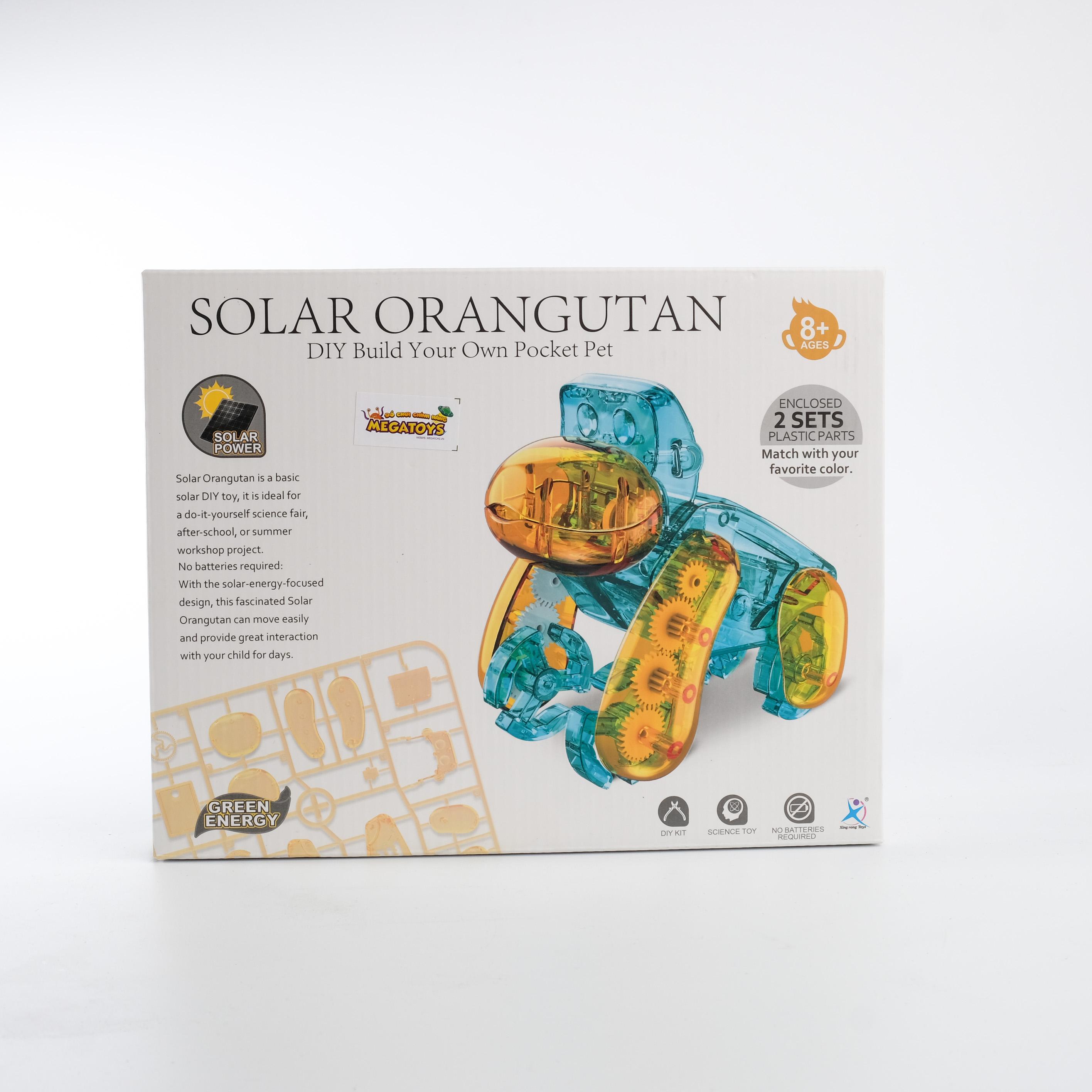 Đồ chơi giáo dục STEM - Lắp ráp King Kong chạy bằng năng lượng mặt trời KK-2058A