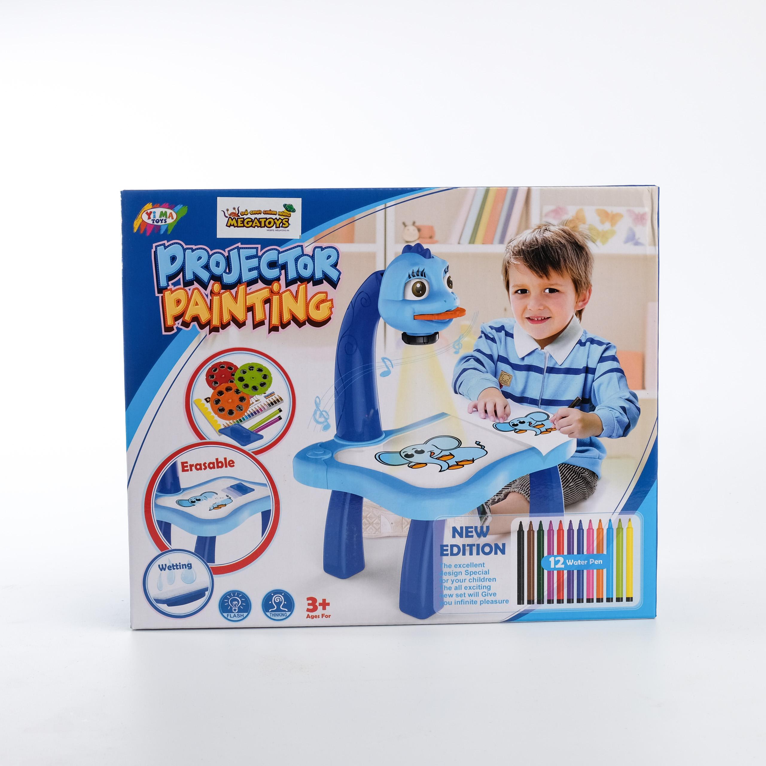 Đồ chơi giáo dục- Bàn tập vẽ , tô màu theo hình chiếu ( bé trai ) -BTVBT-YM6886