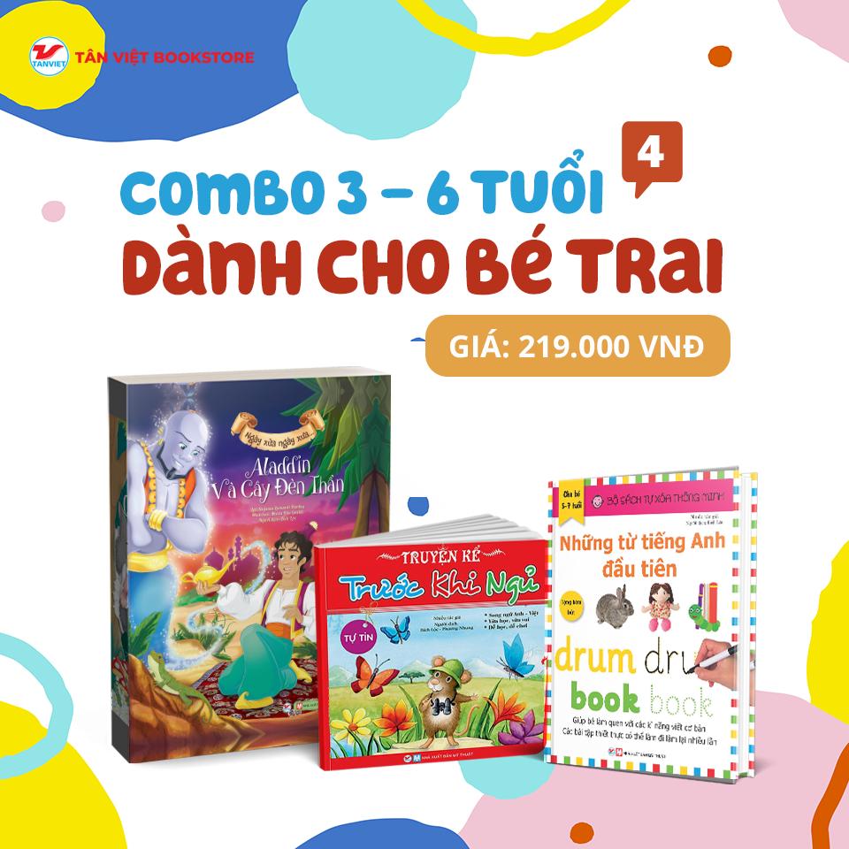 Combo: Dành Cho Bé Trai Từ 3 -6 Tuổi