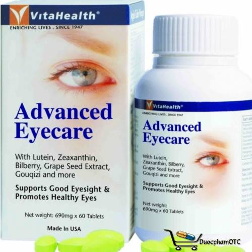 VitaHealth Advanced Eyecare - Phòng ngừa và hỗ trợ điều trị bệnh lý về mắt
