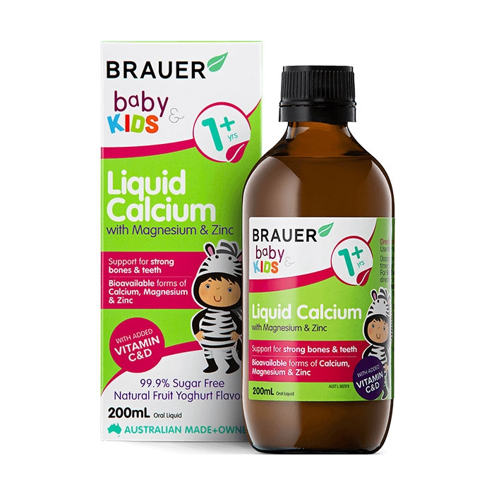 Brauer Baby and Kids Liquid Calcium With Magnesium and Zinc - Hỗn hợp Vitamin, Canxi, Magnesi và kẽm
