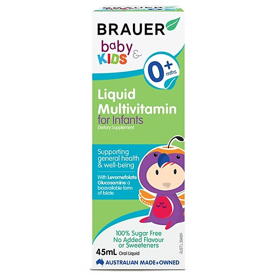 Brauer Baby and Kids Liquid Multivitamin For Infant - Vitamin tổng hợp