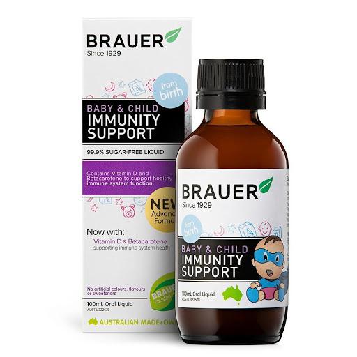 Brauer Baby & Child Immunity Support -  Bảo vệ sức khỏe tăng cường sức đề kháng