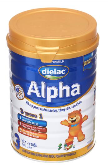 Dielac Alpha 3 - Sữa bột dành cho trẻ từ 1 - 2 tuổi