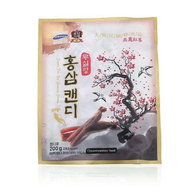 Kẹo sâm Cheonnyeonae Food Không Đường Hàn Quốc - Giúp thư giãn sảng khoái tinh thần