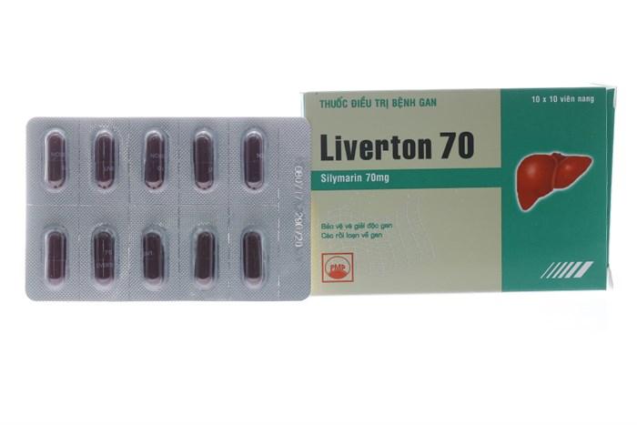 Liverton 70mg 100 viên - Thuốc gan mật