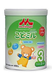 Morinaga Số 3 Kodomil Hương Vani 850g - Sữa bột dành cho trẻ em