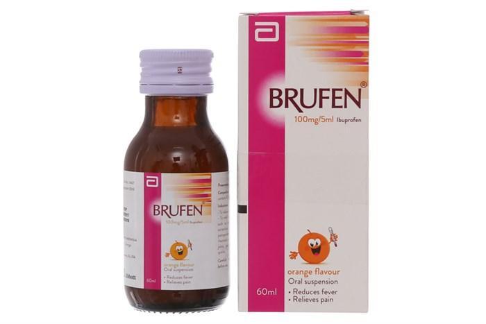 Brufen 100mg/5ml - Siro giảm đau, hạ sốt cho trẻ em