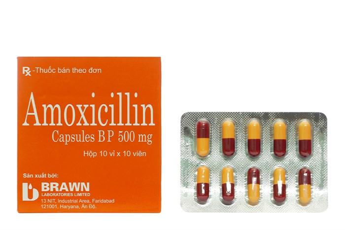 Amoxicillin 500 mg hộp 100 viên - Thuốc kháng sinh