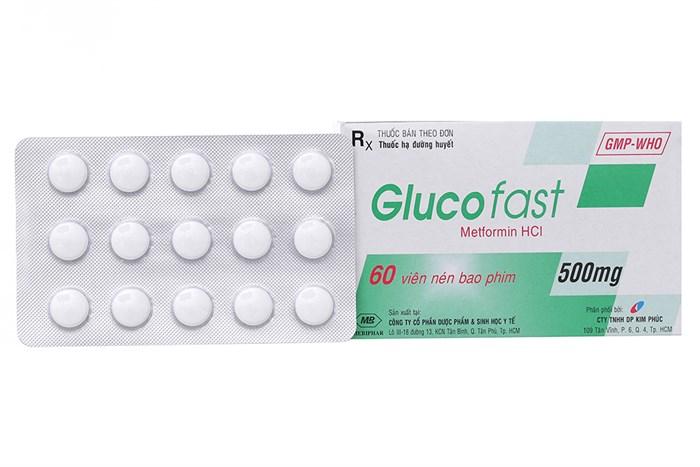 Glucofast 500mg hộp 60 viên - Thuốc trị tiểu đường
