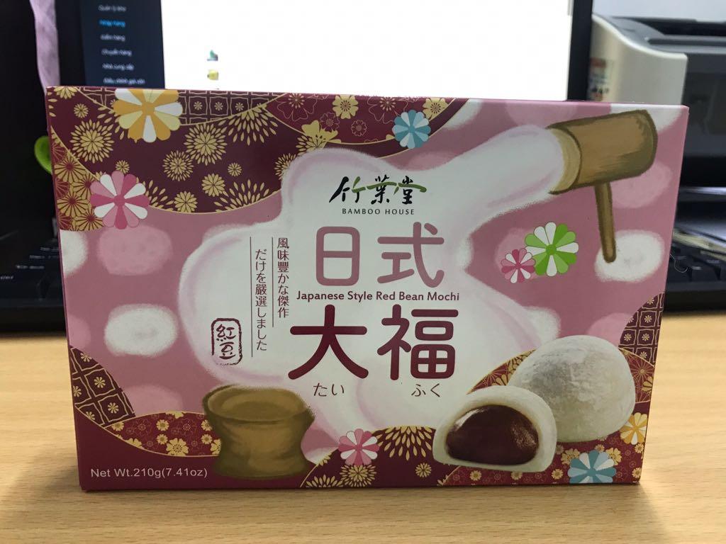 Bánh mochi vị đậu đỏ Bamboo House Đài Loan 210g