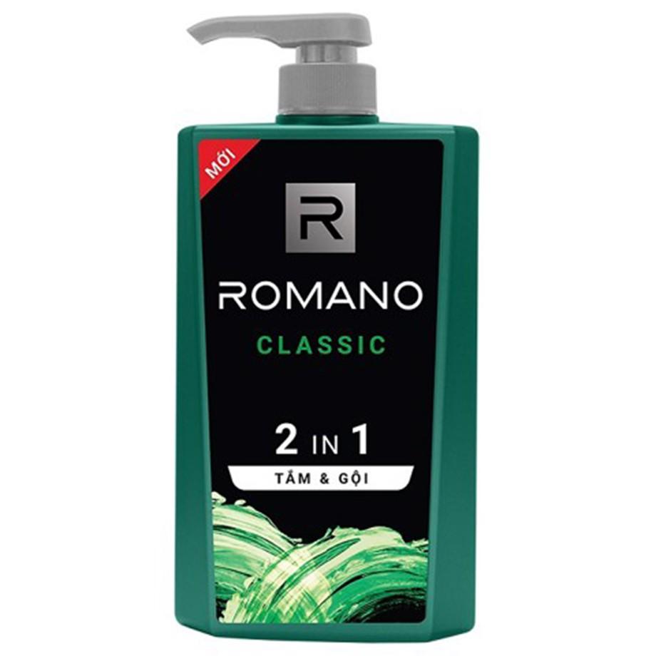 Sữa tắm gội Romano 2in1 Classic 650g
