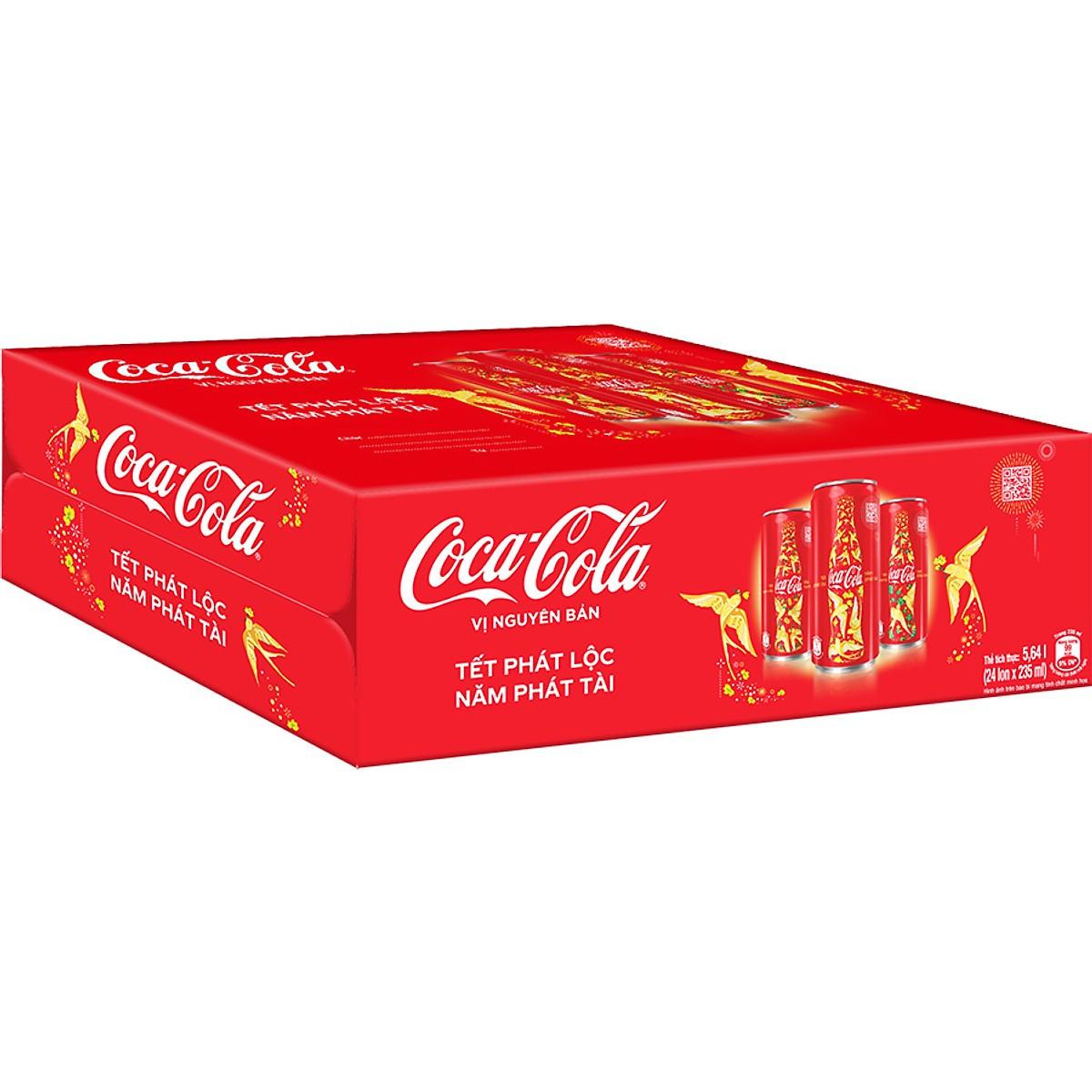 Coca 235ml (24lon/thùng)