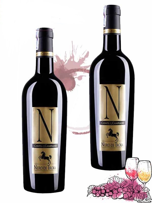 Rượu vang N Conte di Campiano Nero Di Troia Italia 750ml