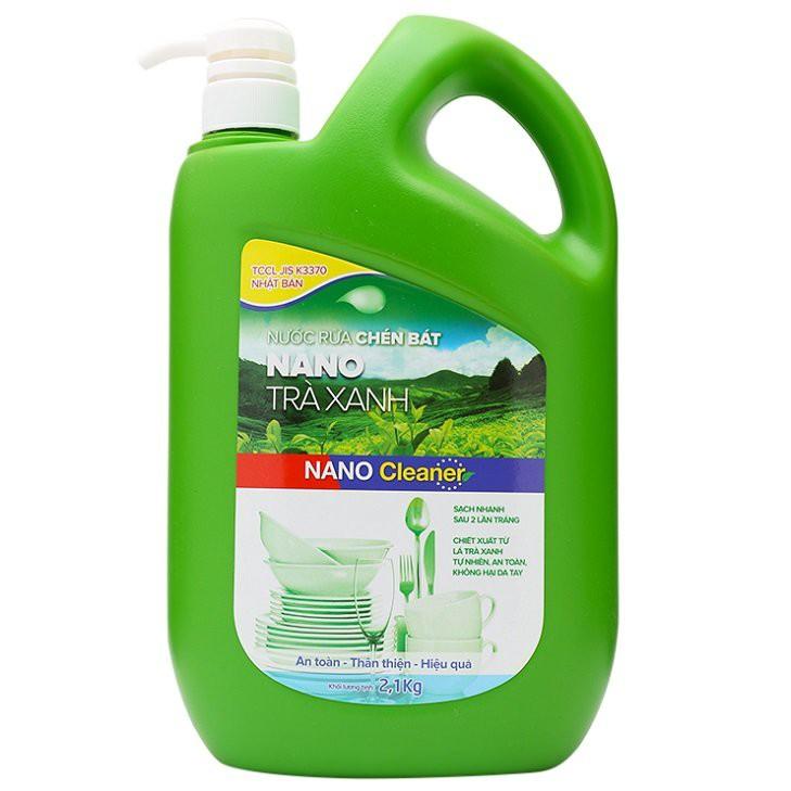 Nước rửa chén NANO trà xanh 2,1