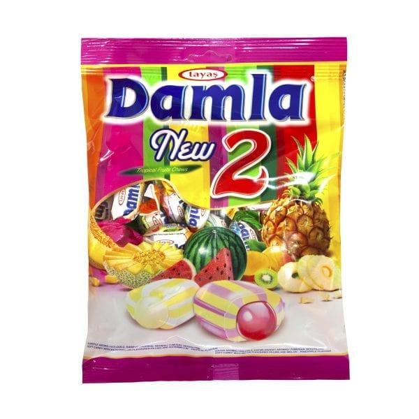 Kẹo Tayas Damla New 2 vị trái cây nhiệt đới Thổ Nhĩ Kỳ 350g