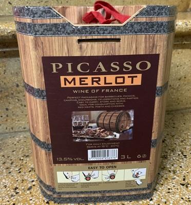 Vang giả gỗ Picard Merlot Pháp 13% 3L