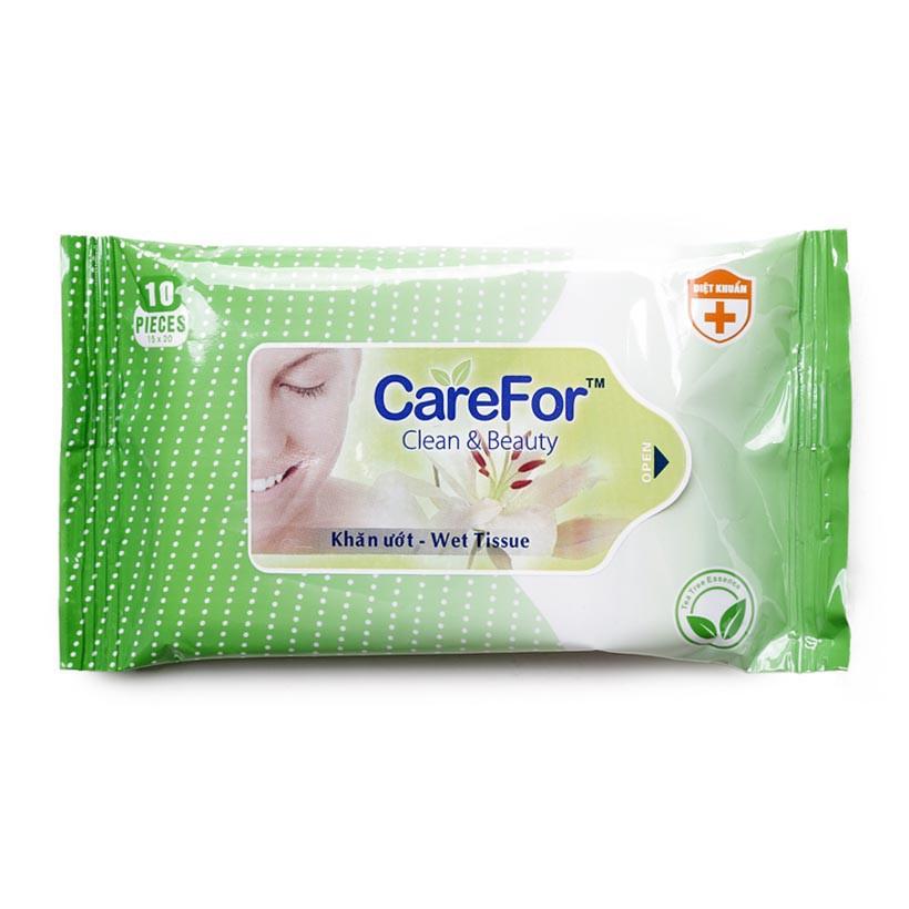 Khăn ướt Carefor không mùi 10 tờ