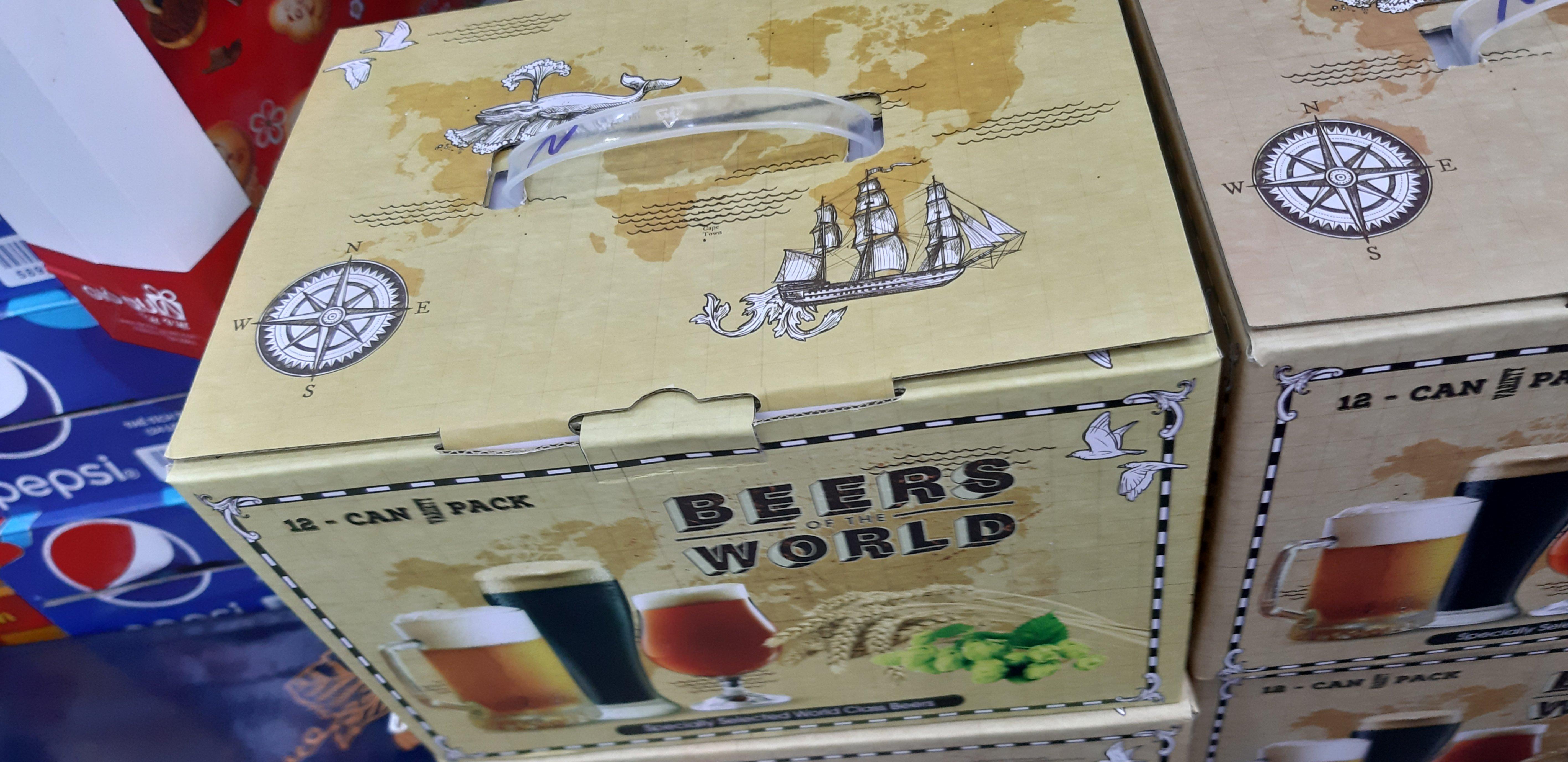 Hộp quà 12 lon Beers World mix 3 vị ( mẫu mới) Nga
