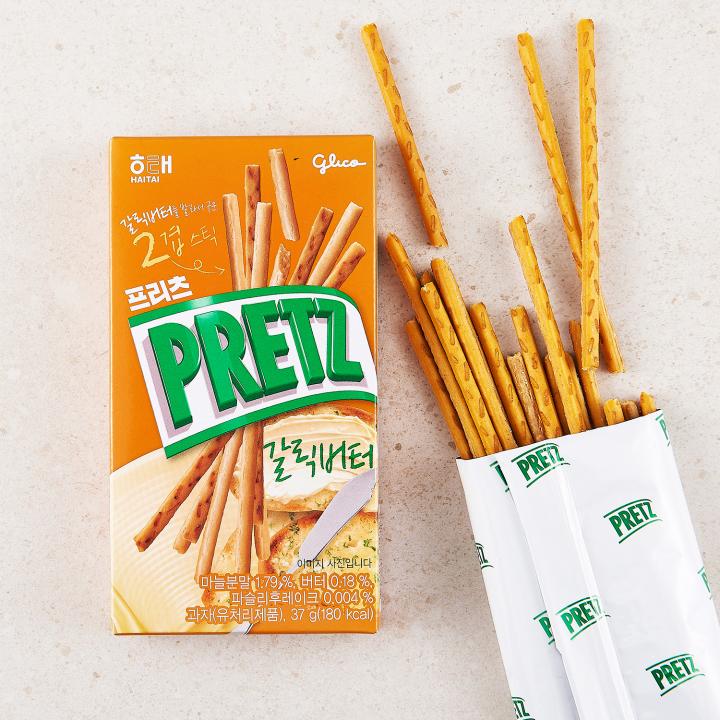 Bánh que Pretz bơ tỏi Hàn Quốc 37g