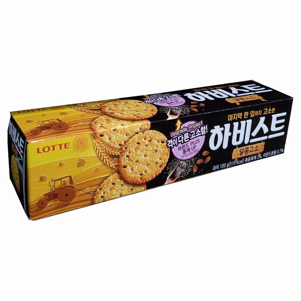 Bánh quy lúa mạch mè đen Lotte 100g