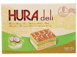 Bánh Hura Deli hương cốm dừa 336g