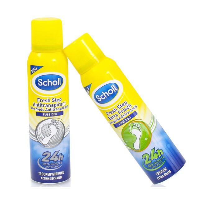 Xịt khử mùi chân, giày Scholl 24hDeo-schuts 150ml Anh