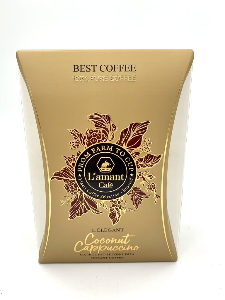 Cà phê L'amant Coconut Capuchino hương dừa