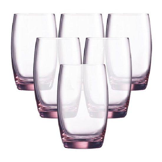 Bộ 6 cốc thuỷ tinh Luminarc Salto Pink 350ml