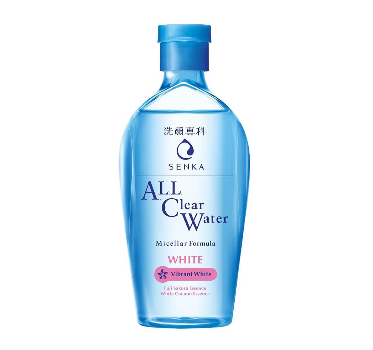 Nước tẩy trang Senka Micellar White dưỡng da 230ml Nhật Bản