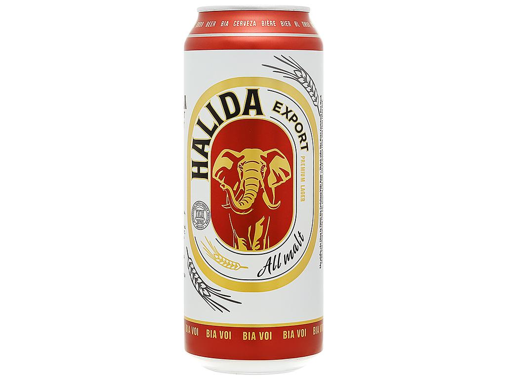 Bia lon Halida Export 500ml