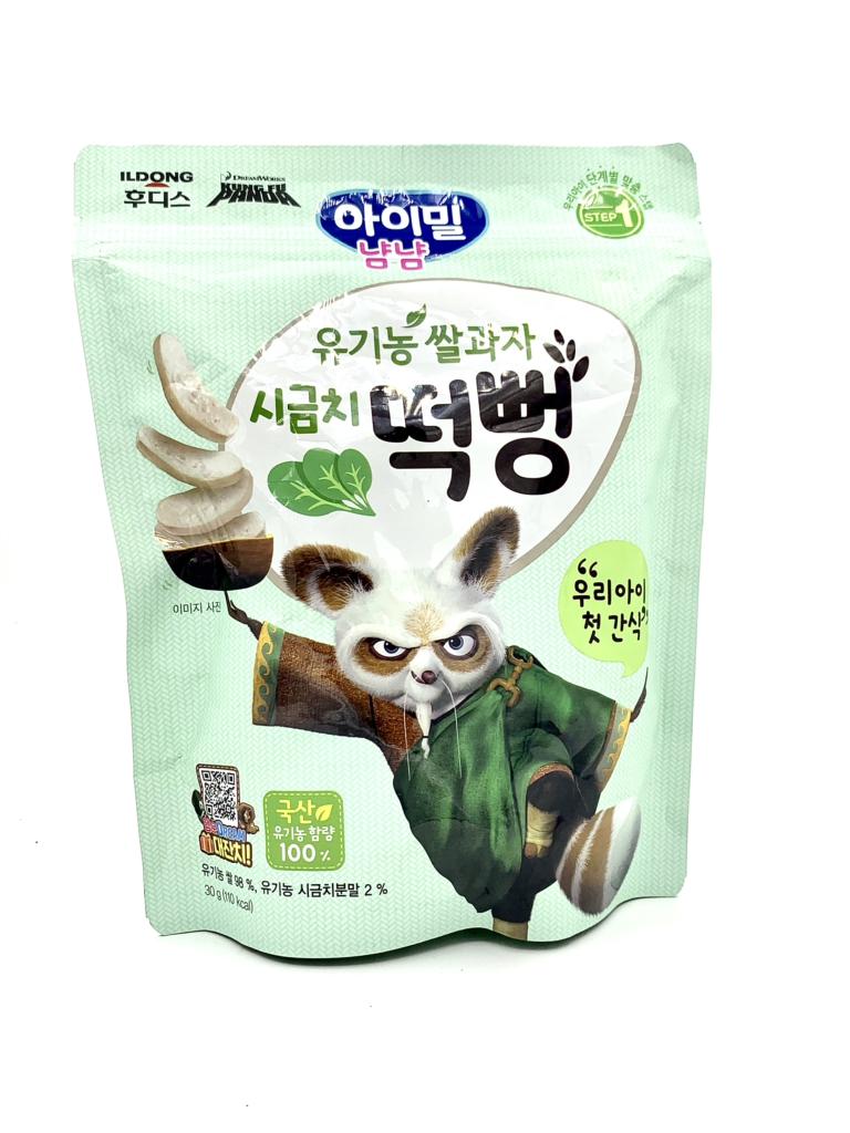 Bánh gạo hữu cơ ILDONG vị cải bó xôi Hàn Quốc 30g