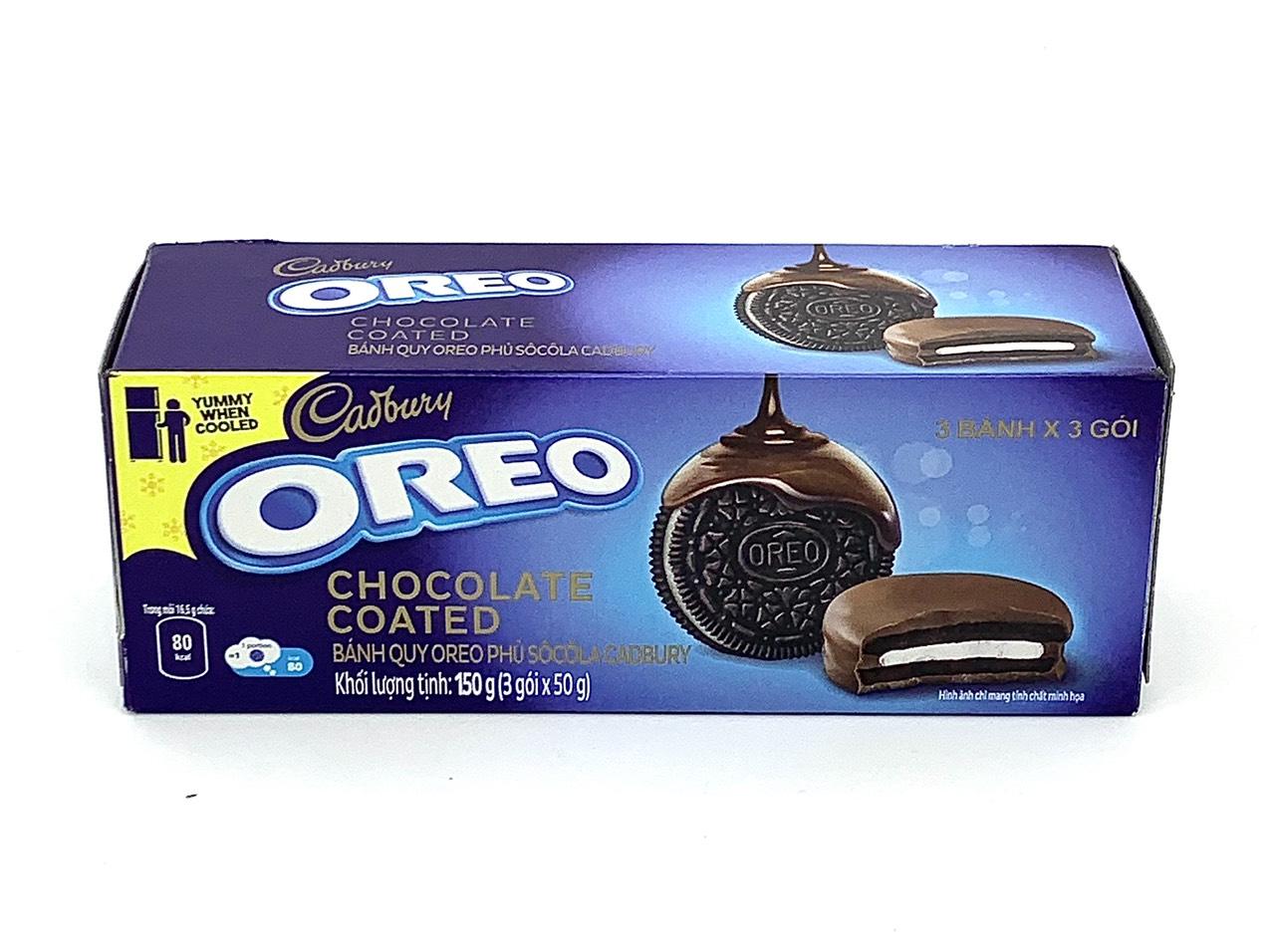 Bánh quy Oreo phủ socola Cadbury 150g