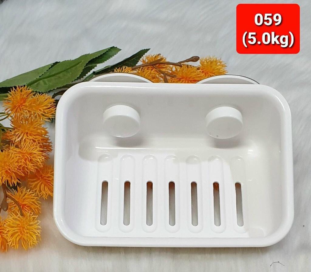 Giá đựng xà phòng trắng chữ nhật BWJ059