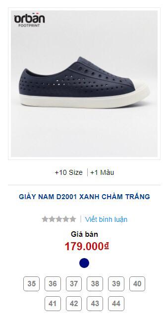 Giày Orban D2001 màu xanh chàm đế trắng 10 size 35-44