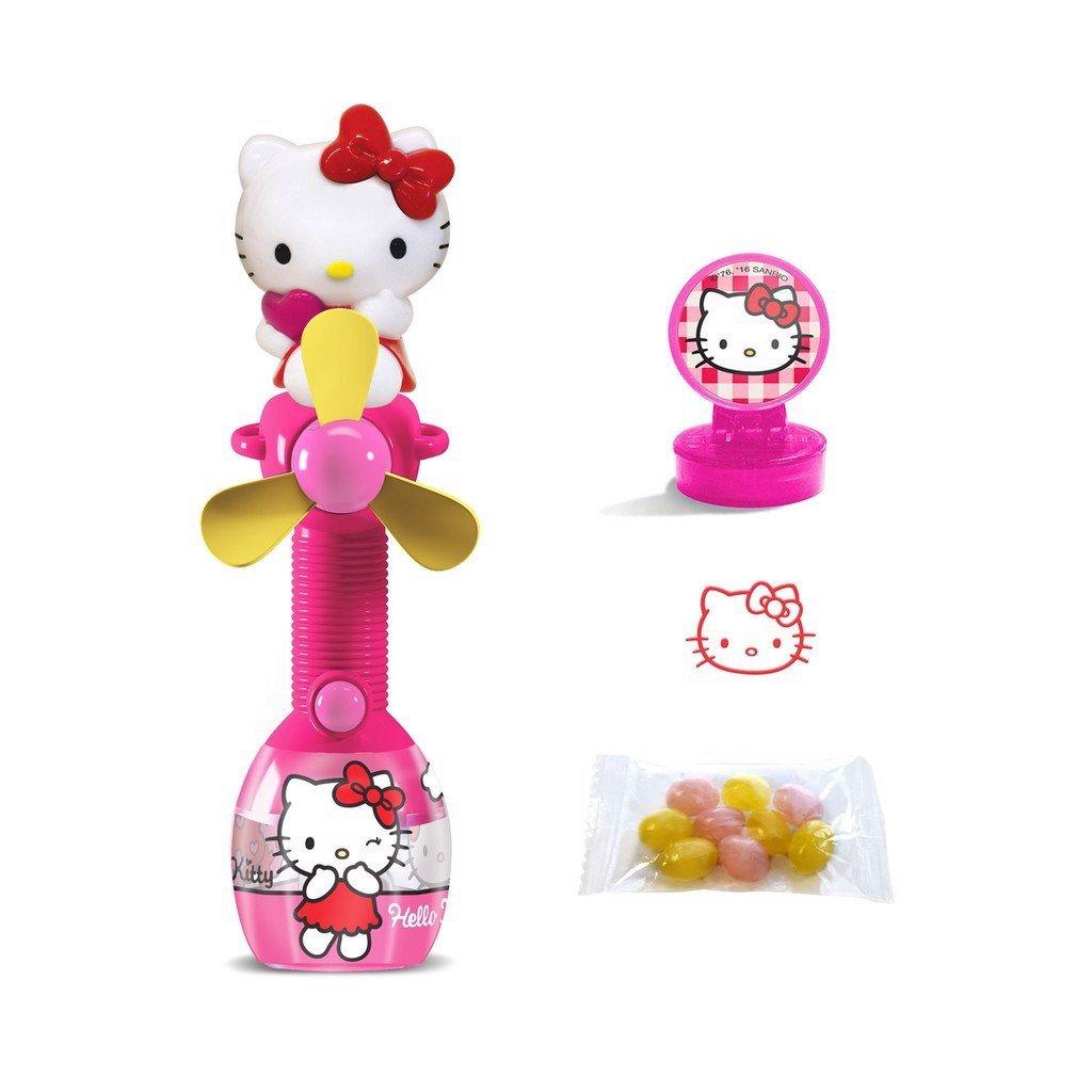 Kẹo cây quạt và con dấu Hello Kitty Relkon