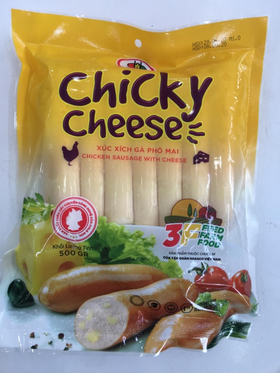 Xúc xích Chicky Cheese 500g
