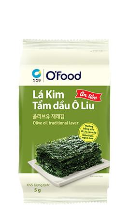 Lá kim tẩm dầu oliu O'Food 5g
