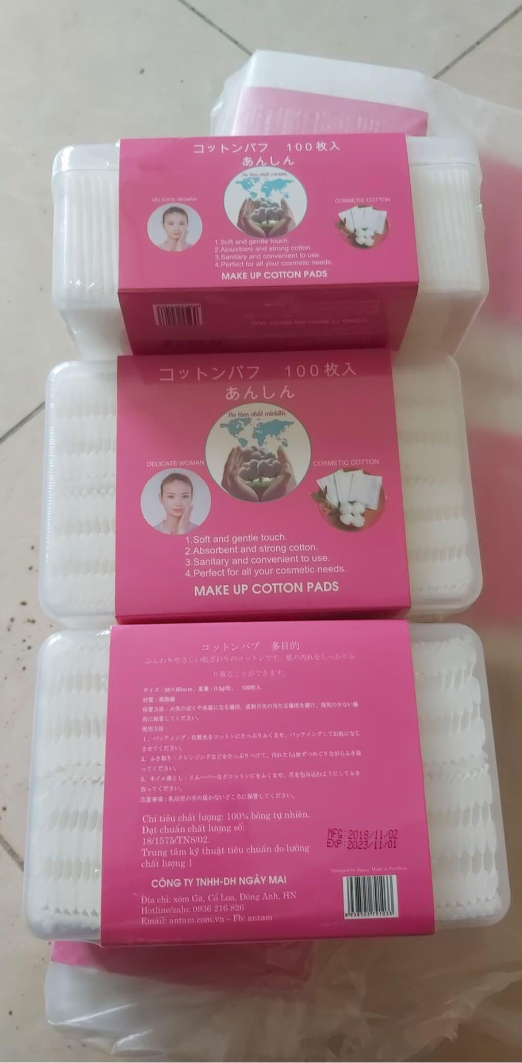 Bông tẩy trang Nhật 100 miếng