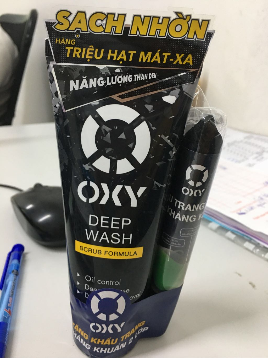 Sữa rửa mặt OXY sạch sâu sáng da 100g